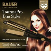 Bauer Professional Tourmaline Ionic Ceramic 2 in 1 Hair Curling and Straightener