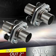 """2"""" ID Stainless Exhaust Spherical Joint Spring Bolt Flange Pipe Repair 2PCS Pair"""