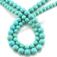 Lots 100% Natural Round Turquoise Gem Spacer Loose Beads Charms DIY 4 6 8 10 mm