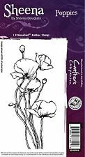 POPPIES FLOWERS Cling Unmounted Rubber Stamp SHEENA DOUGLASS SD-POPP-IS New