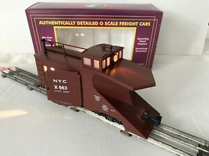 *NEW* MTH PREMIER TRAINS-NYC NEW YORK CENTRAL 663 SNOW PLOW CAR-O-SCALE 20-98219