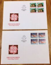 Norway Post FDC 1990.06.14. Europa Cept - Post Office Buildings - Block of Four