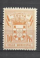 5652-ANTIGUOS SELLOS FISCALES AYUNTAMIENTO CEUTA ESPAÑA NORTE AFRICA MNH**.SPAIN