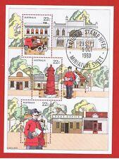 Australia #755a Mnh Og Sheet of 3 Mailman Free S/H