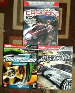 Need For Speed Most Wanted/Undrground/Carbon Strategy Game Guide lot + Posters