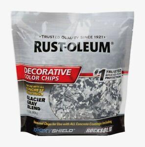 Rust-Oleum EpoxyShield DECORATIVE COLOR CHIPS 1 lb. Glacier Gray Concrete 312449