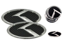 K Logo Black Carbon & Chrome Edition Emblem 7pc SET (Fits: KIA 2020+ Telluride)