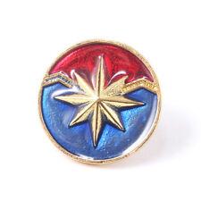 Superhero Marvel Avengers Captain Marvel Design Logo Alloy Badge Brooch Pin
