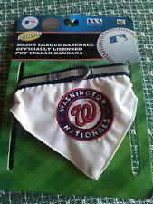 Washington Nationals Collar Banadana Reflective Pet Wear , Medium NWT
