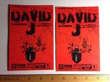 David J Love & Rockets / Orgy 9electric Concert Show Live Handbill Card (x2)
