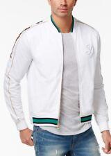 Sean John Men's White Embroidered Tricot Track Jacket Size 2XL