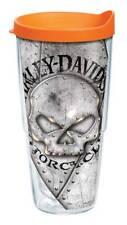 Harley-Davidson Willie G Skull Rivets Tervis Tumbler w/Orange Lid, 24oz. 1287276