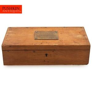 A 20thC CASKET MADE FROM THE TIMBER OF LORD NELSON'S HMS VICTORY, ENGLAND c.1920