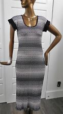 Missoni Mare Black White Zig Zag Cover-up Dress Italy EUR 38