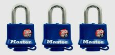 Master Lock Vinyl Covered Steel Double Locking Pad 3 pk Keyed Alike 312TRI