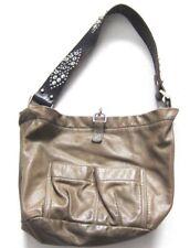 Tylie Malibu Bag Classic Utility Olive Green Leather Swarovski Crystal Strap