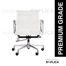 PREMIUM EAMES REPLICA ALUMINIUM OFFICE CHAIR - MESH - WHITE - RRP $745