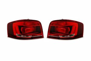 Audi A3 10-12 OEM Dark Red Rear Tail Lights Lamps Pair Set Left Right Hatchback