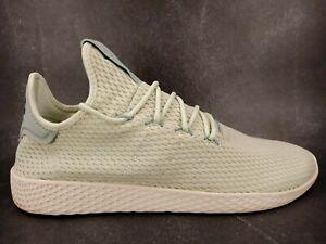 Adidas Pharrell Williams HU Linen Green Tennis Shoes Sneaker CP9765 Mens Sz 11.5
