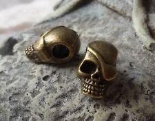 1//3//6//9 Skull Münze Großloch Perlen Paracord Lanyard Armband Totenkopf S20