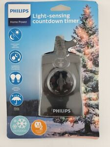Philips Dusk to Dawn 8/6/4/2hr Countdown Timer Outdoor 2 Outlet Grounded