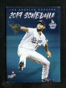 Los Angeles Dodgers--Clayton Kershaw--2019 Pocket Schedule--Union 76