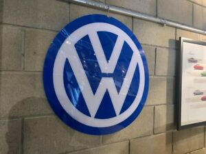 VW logo dealership showroom sign man cave large E18F
