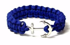 Jewelry Hand Made Usa 9 In Nautical Anchor Bracelet Paracord Men Women Fashion