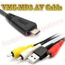 VMC-MD3 USB AV RCA Cable For Sony CyberShot DSC-W560 W570 W580 TX5 WX10 WX9 WX7