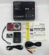Panasonic LUMIX DMC-ZS7 12.1MP Digital Camera - Red Excellent Condition With Box