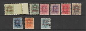 Spanish Andorra ,1928 to 50c no gum except 2c + 15c fine used