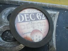TAX DISC HOLDER 1960 -1970 INCLUDING DISC FOR DECEMBER 1962 B.S.A. MOTORCYCLE