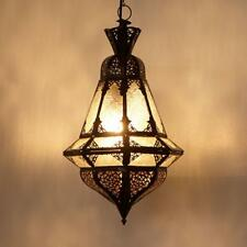 Oriental lampes lanterne lampe à suspension plafonnier Houta Blanc