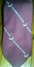 Novelty Neck Tie Id Rather Be Flying 100% Polyester