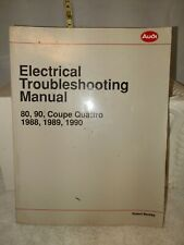 Audi 80 90 Coupe Quattro 1988-90 Electrical Wiring Service Manual Lpv 800 602