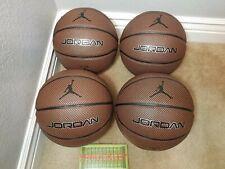 "Lot Of 4 Jordan Legacy 29.5"" / 74.9cm Official Size Outdoor Basketball Balls New"