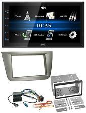 JVC USB 2DIN Bluetooth MP3 AUX Autoradio für Seat Altea XL Altea Toledo silber