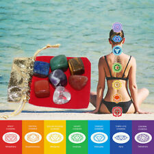 7pcs/Set Chakra Stones Palm Natural Stone Reiki Healing Crystals Gemstones Decor
