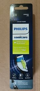 New Genuine Philips Sonicare HX6062/95 W DiamondClean Brush Heads (2 Pk Black)