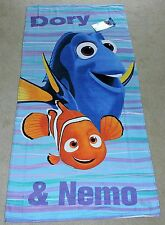 "2016 DISNEY PIXAR FILM ""FINDING DORY"" DORY & NEMO SWIM FINS BEACH TOWEL"