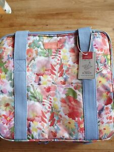 JOULES PICNIC COOL BAG XL CREAM MEADOW FLORAL FLOWERS