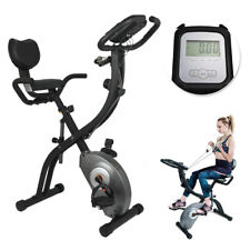 New ListingHome Foldable Cycle Stationary Bike Exercise w/Resistance Bands Heart Monitor