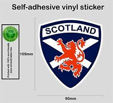 Scottish Scotland saltire red lion rampant vinyl decal sticker #1 - PRNT1012