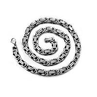 Halskette Herren Edelstahlkette Panzerkette Königskette Silbern Herrenschmuck