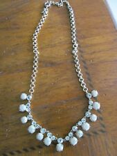 J.Crew Factory pearls on rope necklace NWT $32.50 BEIGE Style 46993