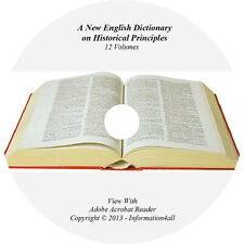A New English Dictionary on Historical Principles Oxford 12 Volume Set Books DVD