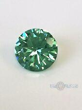 Emerald Green Super Light. Round 7mm. 1 Ct. Monosital lab created gemstone US@