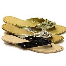 Markenlose Damen-Sandalen & -Badeschuhe mit Blockabsatz ohne Muster