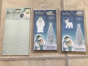 Crafters Companion The Snowman & Snowdog Metal Die Template, And Embossing Folde