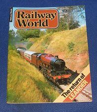 RAILWAY WORLD JUNE 1981 - THE RETURN OF THE LEANDER
